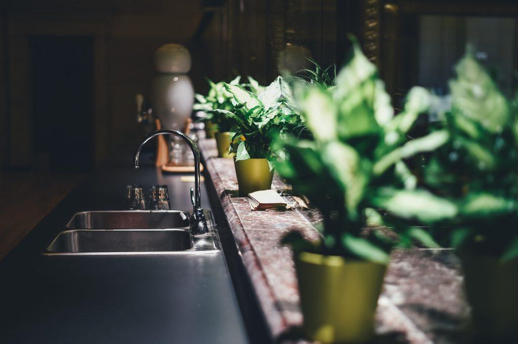 Lavabo cucina ordinato